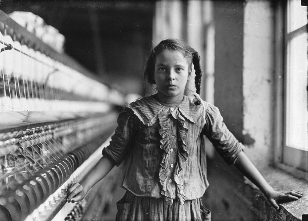 Young Spinner in Carolina Mill: Child Labour