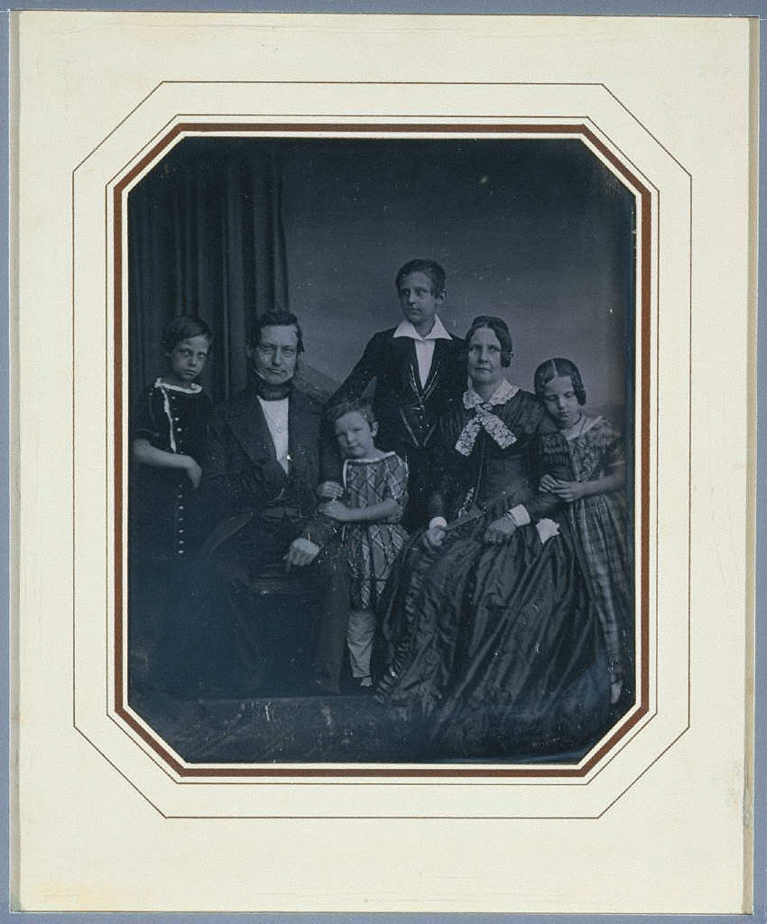 Anton Karl Georg and Johanna Maria Stade (née Maass) with their Children Emil, Carl, Johanna , and Rudolph