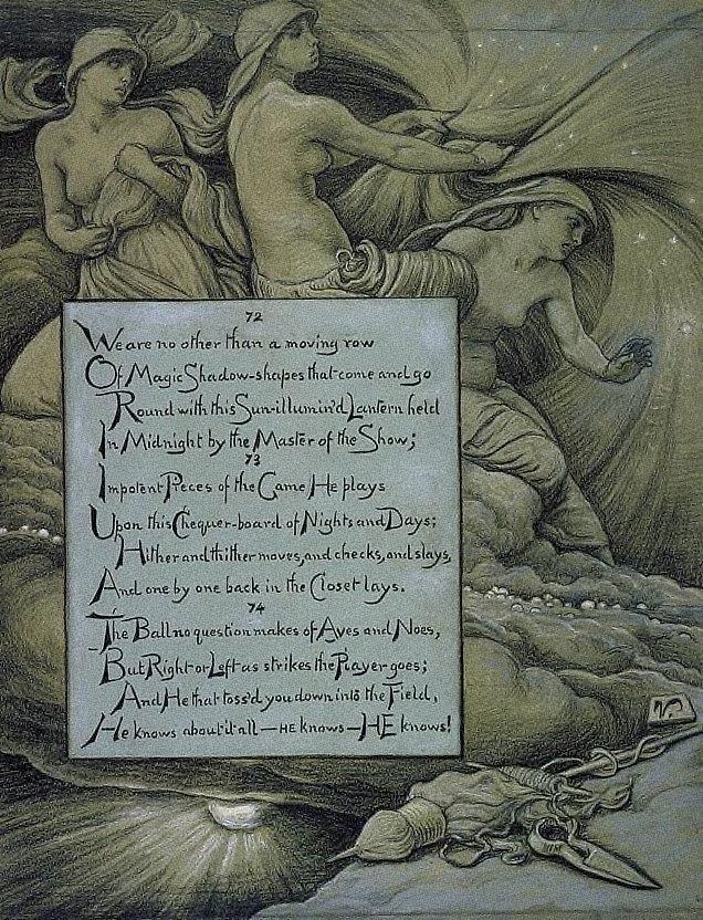 (Illustration for Rubáiyát of Omar Khayyám) The Fates Gathering in the Stars