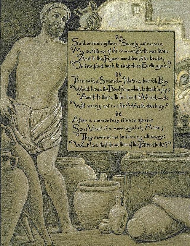 (Illustration for Rubáiyát of Omar Khayyám) The Ungainly Pot