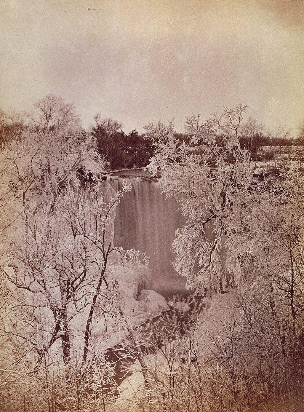 Falls of Minnehaha in Winter