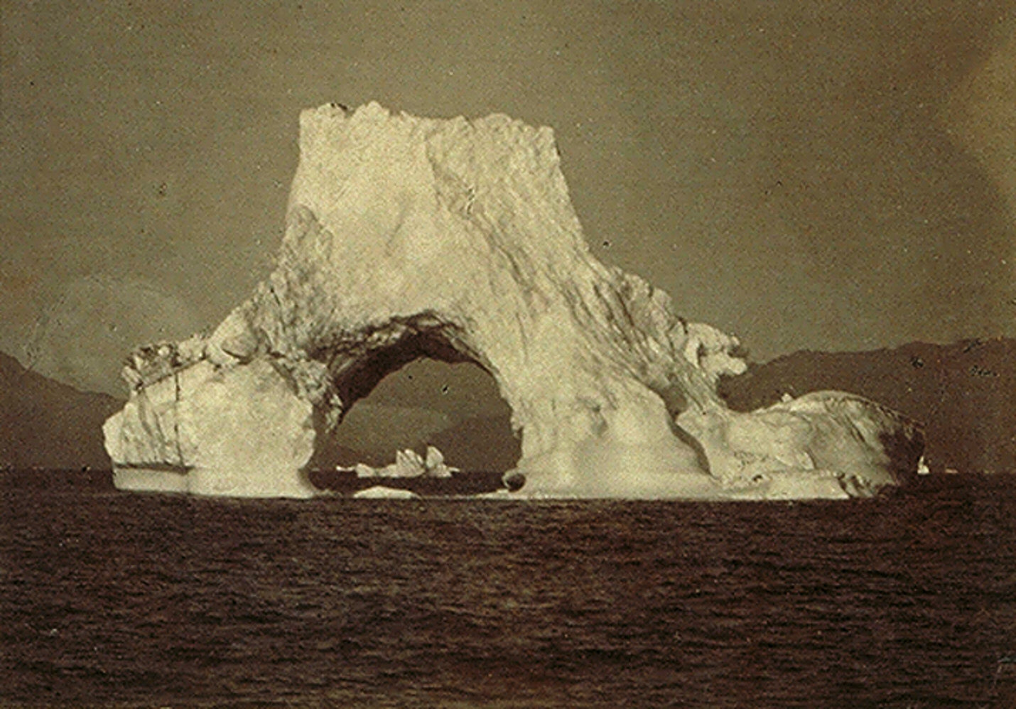 Arctic Regions: Page 33, no. 39, Iceberg with an Arch in It, Which,When Connected with the Glacier, WillGive the Reader to Understand How the Water Flows from the Glacier through these Arches, Causin