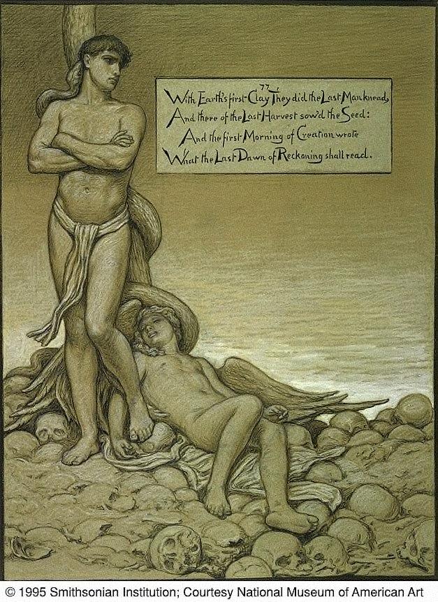 (Illustration for Rubáiyát of Omar Khayyám) The Last Man