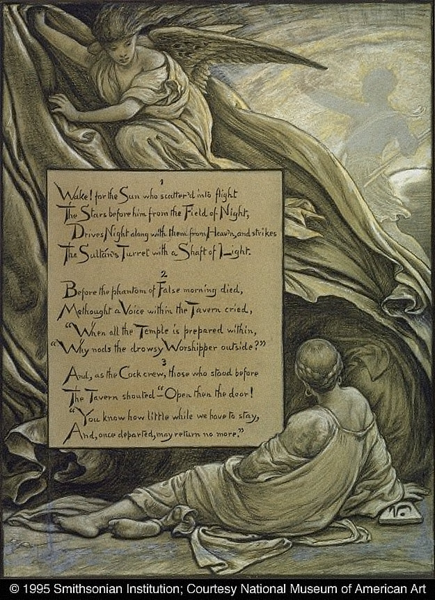 (Illustration for Rubáiyát of Omar Khayyám) The Awakening