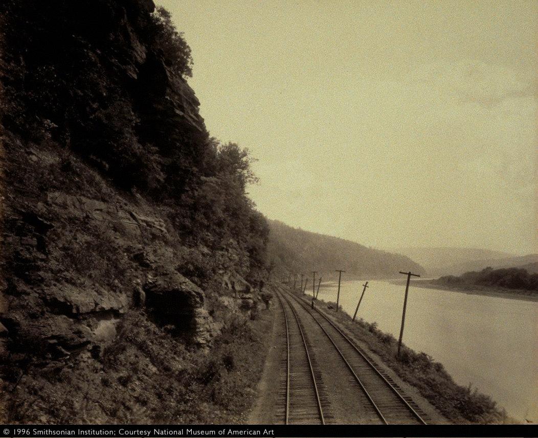 Cathedral Rocks, Susquehanna River near Meghoppen, for the Lehigh Valley Railroad
