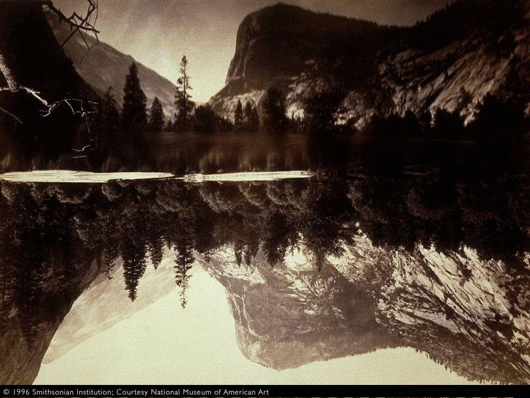 Mirror Lake and Reflections, Yosemite Valley, Mariposa County, California