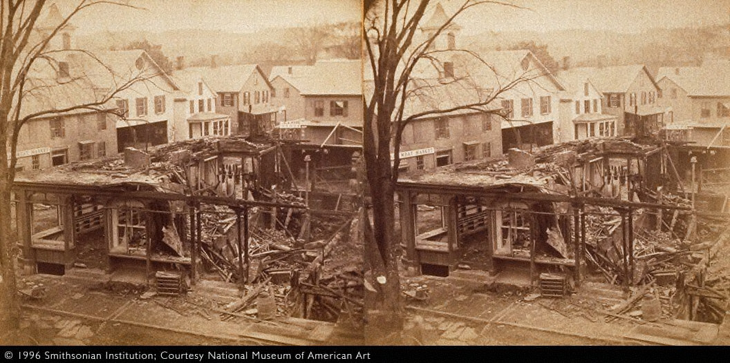 Blake Block, Brattleboro, Vermont, after the Fire