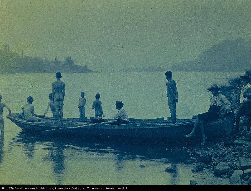 Boys with a Boat, Ohio River, near Wheeling, West Virginia