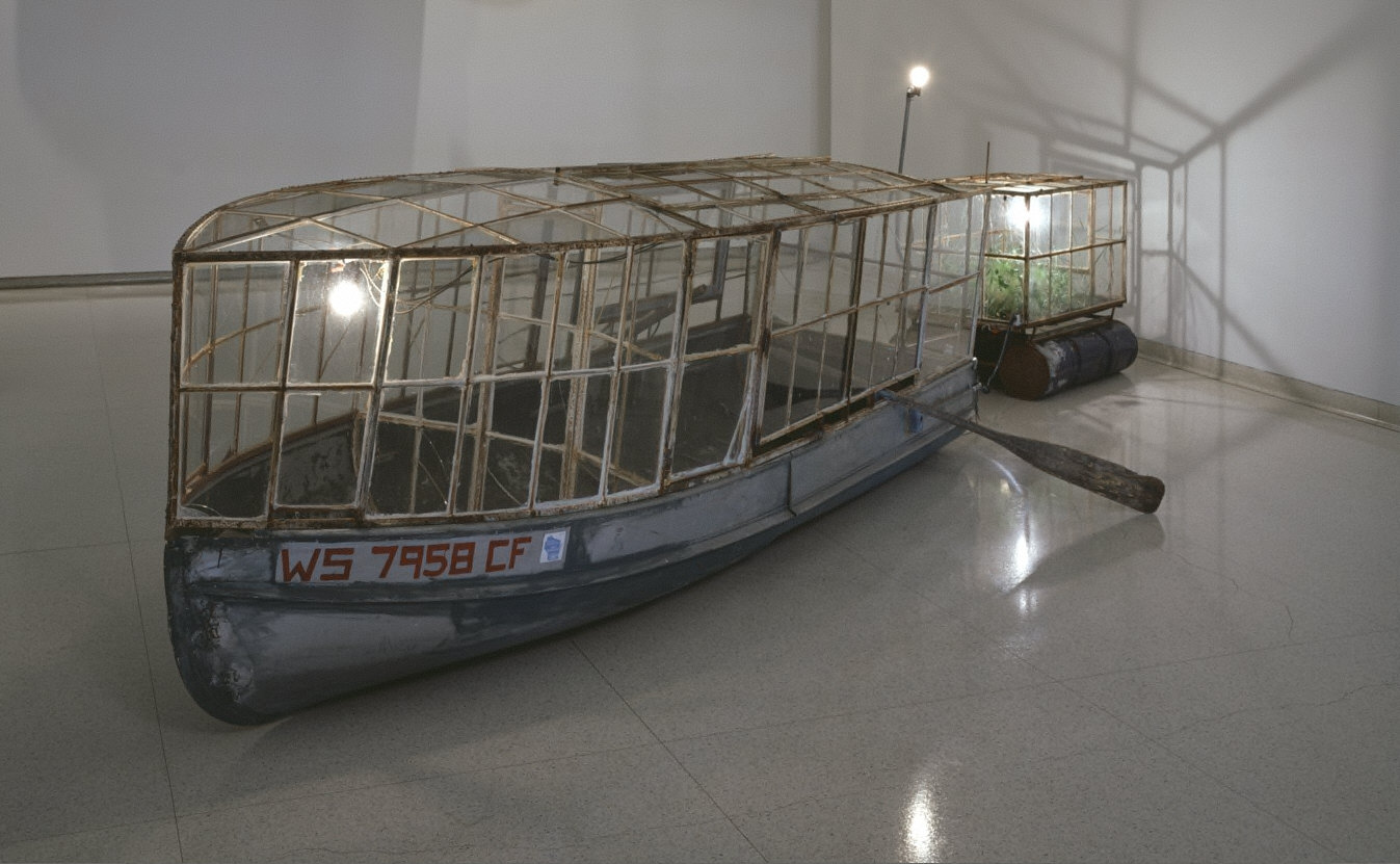 Glass Roofed Boat with Cargo Trailer