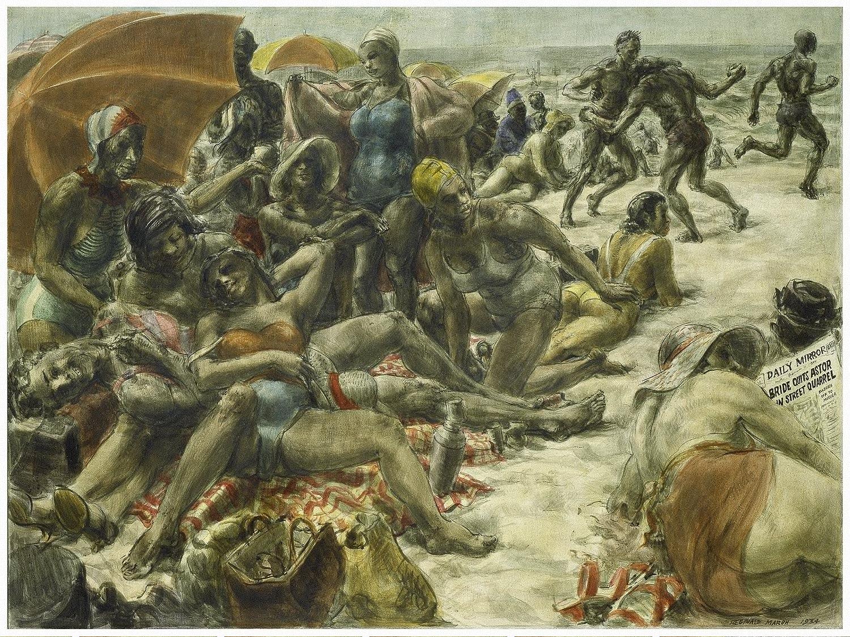 Negroes on Rockaway Beach