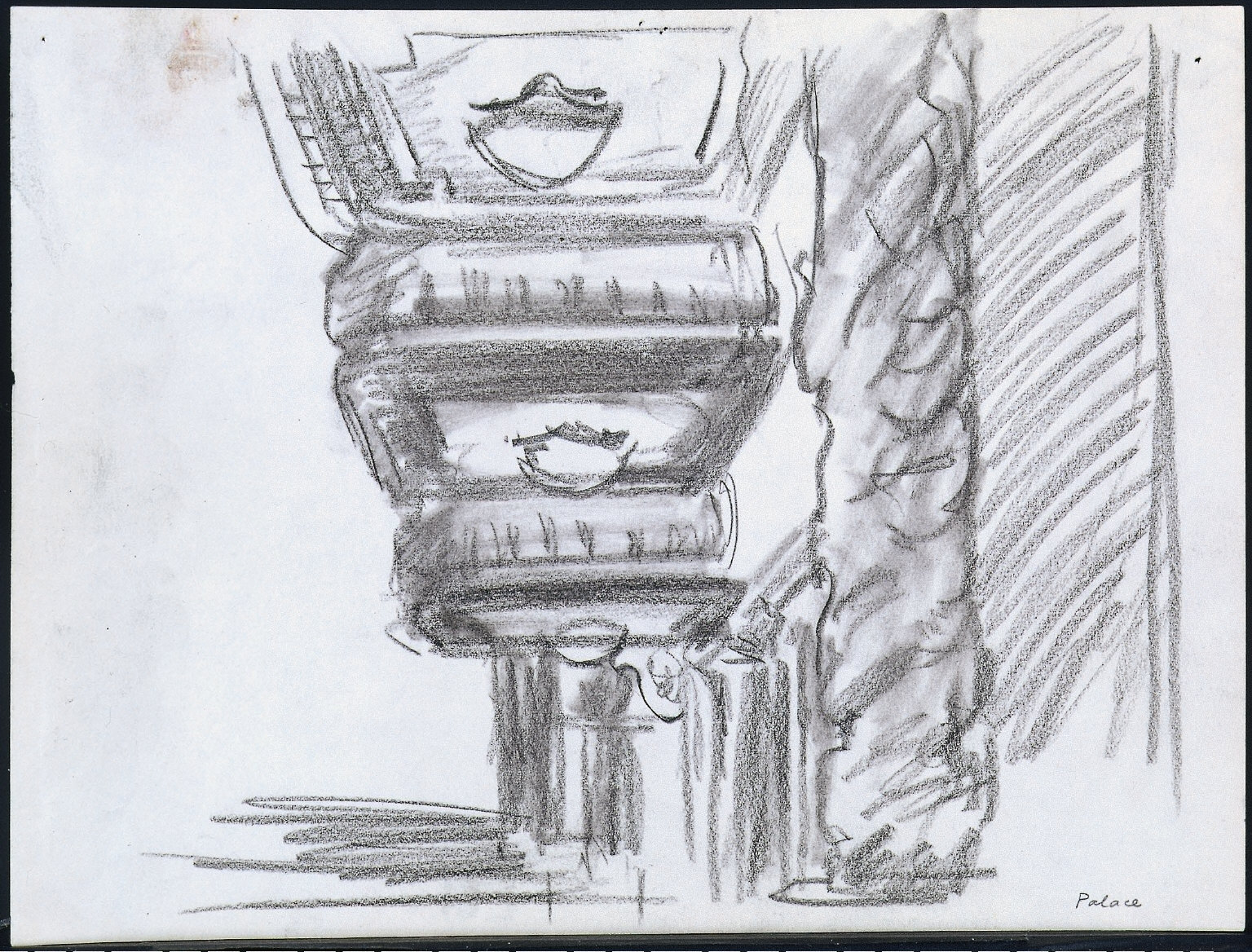 Palace: Drawing for painting New York Movie