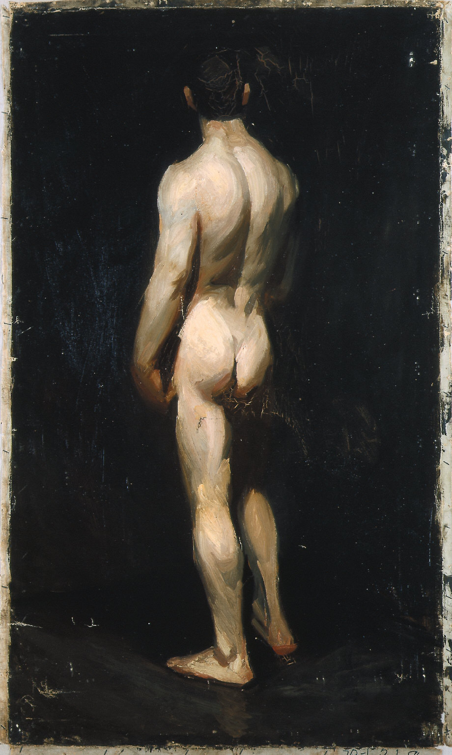 (Standing Male Nude, from Rear)