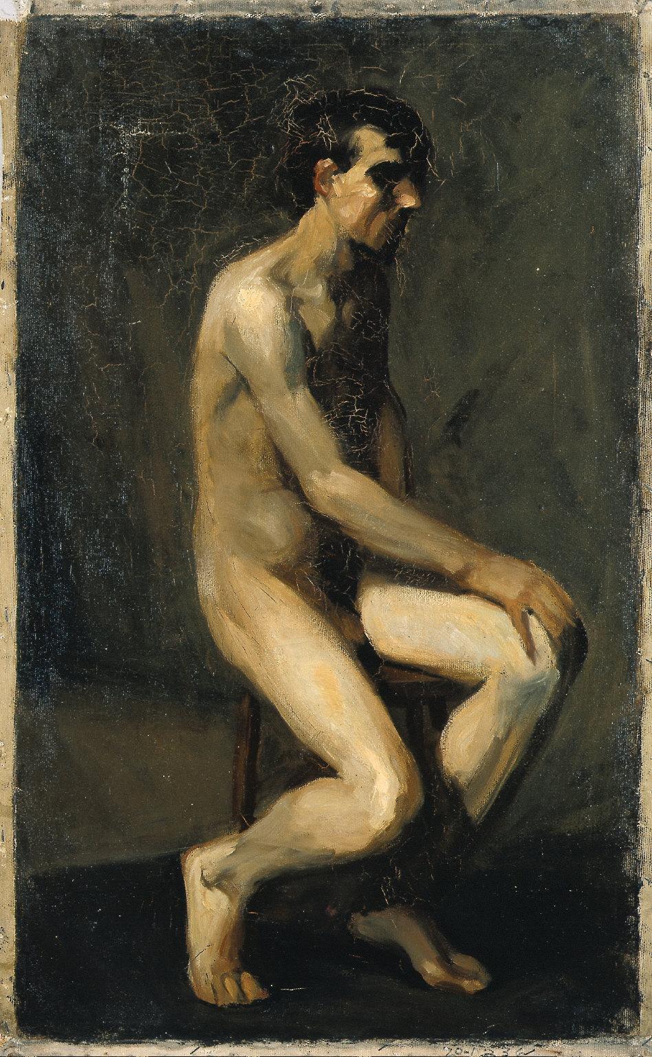 (Seated Male Nude)