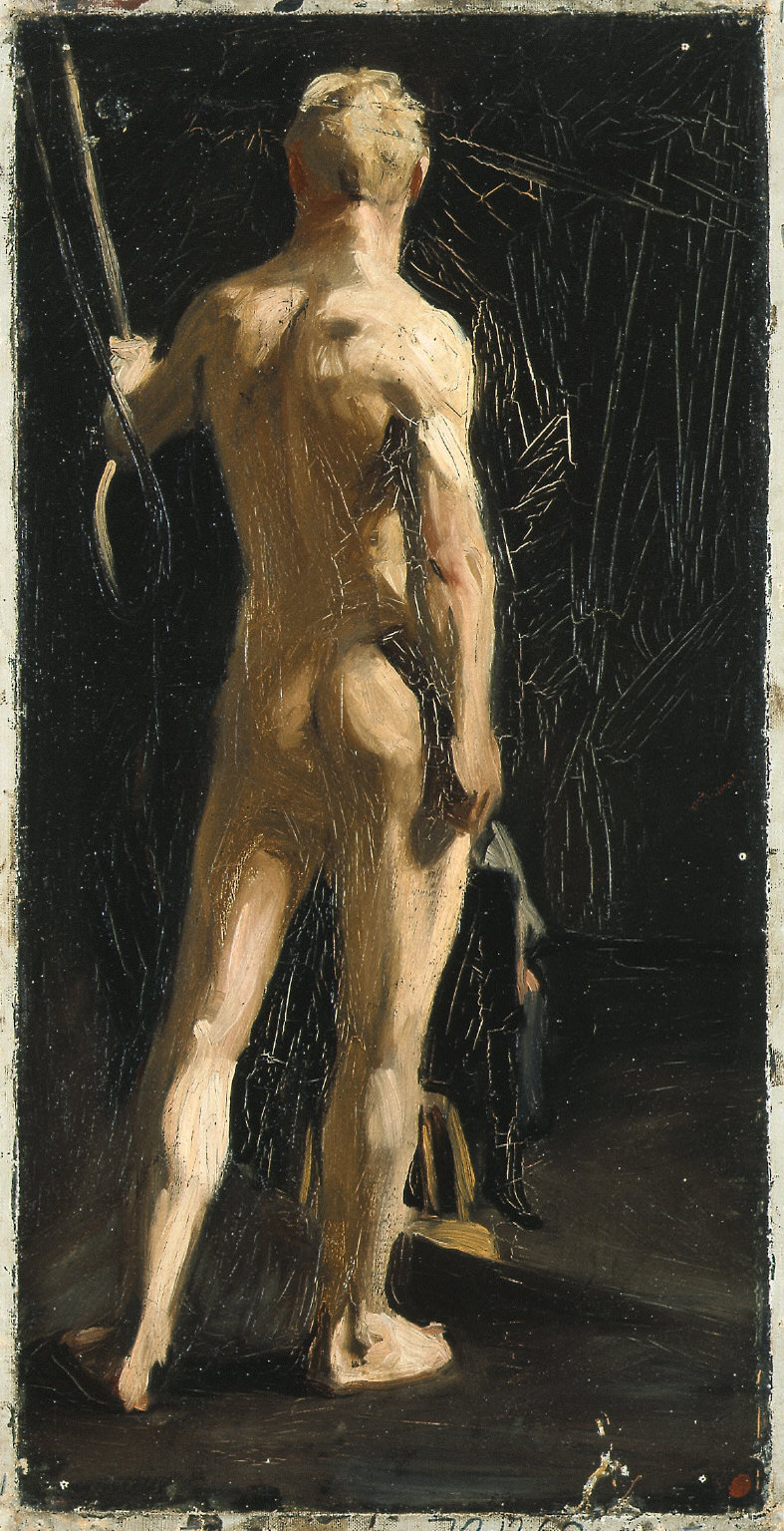 (Male Nude, from Rear)