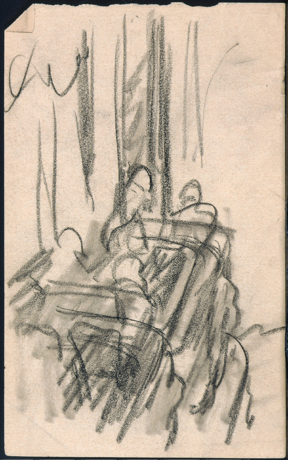 Drawing for painting Two on the Aisle