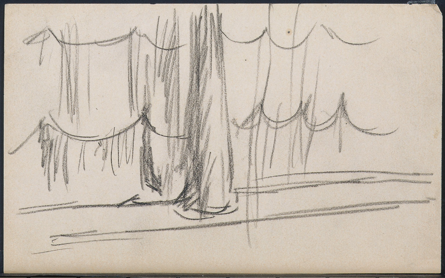 Study of a Theatre Curtain - for Girlie Show