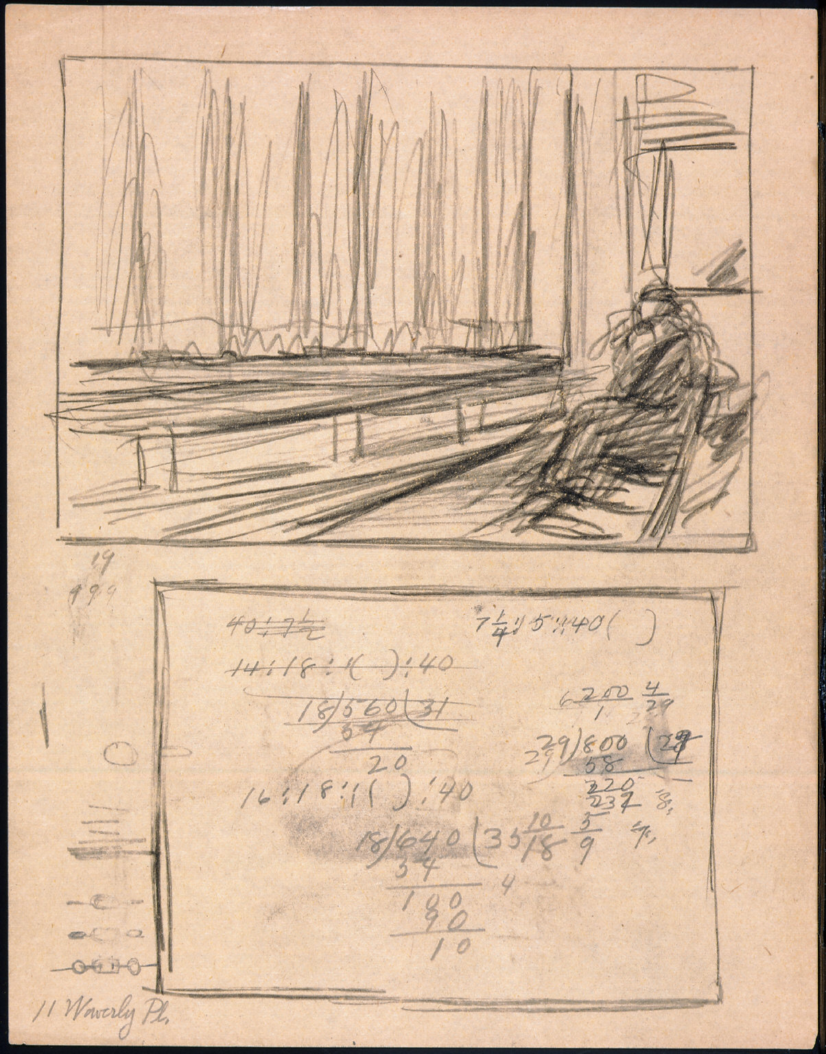 Drawing for painting First Row Orchestra