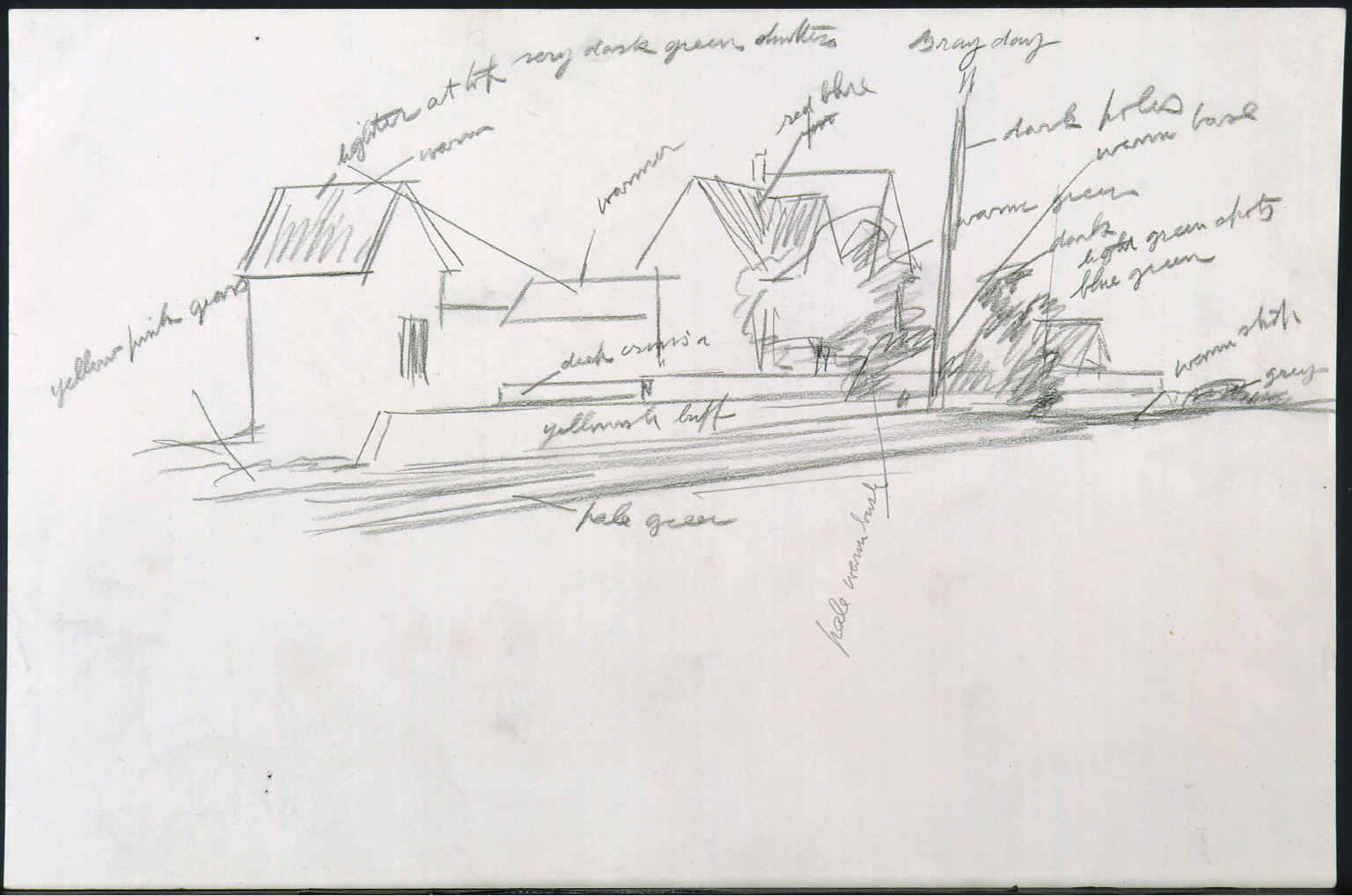 Drawing for painting Route 6, Eastham