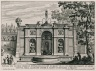 """""""Rustic fountain on the level above the cascade of the theater of the Villa Aldobrandini at Frascati"""" (Plate 9)"""