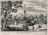 """""""Fountain at Belvedere in Frascati [Barchetta fountain], built above the front of the piano nobile"""" (Plate 5)"""