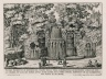 """""""View of the fountain of the theater of the Villa Aldobrandini Belvedere at Frascati at the summit near the top of the mount..."""" (Plate 11)"""