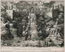 """""""View of the Cascade below the organ from the Lower garden"""" (Plate 21)"""