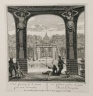 """""""The cabinet near the great basin of the orangerie"""" (Plate 26)"""