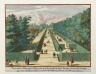 """Terrace No. 11, on both sides and with long and square green hedges"""
