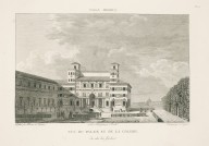 """""""View of the palace and the gallery from the garden side"""" (Plate 10)"""