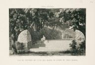 """View of the entrance to one of the allées in the gardens of the Villa Pamphili"" (Plate 18)"