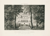 """View of the Casino nobile of the Villa Borghese captured from the avenue facing the entrance"" (Plate 23)"