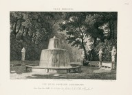 """View of a springing fountain in one of the green rooms of the gardens of the Villa Borghese"" (Plate 26)"