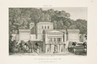 """""""General view of the Villa Pia captured from below the terrace"""" (Plate 37)"""