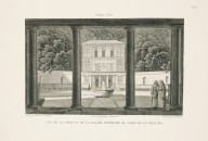 """View of the courtyard of the interior facade of the casino of the Villa Pia"" (Plate 38)"