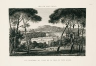 """""""General view of the casino of the villa of Pope Julius"""" (Plate 47)"""