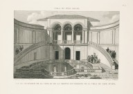 """View of the interior of the courtyard and the underground grotto of the villa of Pope Julius"" (Plate 48)"