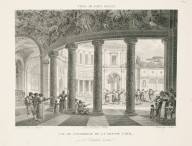 """View of the interior of the great courtyard near the entrance vestibule"" (Plate 49)"