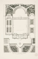 """Plan of the Villa Mondragone with a part of its gardens"" (Plate 52)"