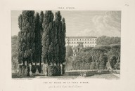 """View of the palace of the Villa d'Este captured from the entrance side in the parterre"" (Plate 59)"