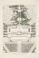 """General plan of the Villa Aldobrandini [Villa Belvedere] and one part of its gardens"" (Plate 64)"