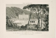 """View of the palace and gardens of the Villa Aldobrandini [Villa Belvedere], captured from the parterre on the entrance side"" (Plate 65)"