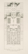 """Plan of the Villa Lante at Bagnaia with one part of its gardens"" (Plate 67)"