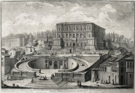 """Principal view of the famous palace of Caprarola built by the Cardinal Alessandro Farnese"""