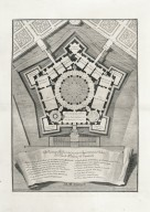 """Geometrical plan of the piano nobile of the royal palace of Caprarola"""
