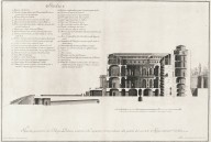 """Geometrical cross-section of the royal palace of Caprarola, showing the piano nobile"""