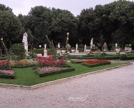Garden behind the casino