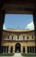 Semicircular portico