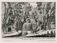 """Rustic fountain on the level above the cascade of the theater of the Villa Aldobrandini at Frascati"" (Plate 9)"