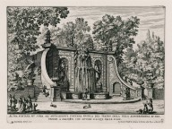 """Other fountain slightly above the fountain adjacent to the water theater of the Villa Aldobrandini at Frascati, with water tricks on the stairs"" (Plate 10)"