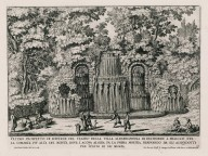 """View of the fountain of the theater of the Villa Aldobrandini Belvedere at Frascati at the summit near the top of the mount..."" (Plate 11)"